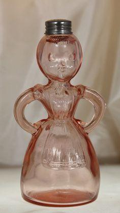 Adorable Vintage Pink Depression Glass Syrup Dispenser by Ariamel, $35.00