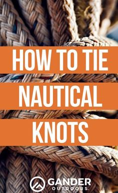 If you're planning to spend time aboard a boat, it's a good idea to familiarize yourself with how to tie nautical knots. Get step-by-step instructions here. Boat Rope, Yacht Rope, Hook Knot, Sailing Knots, Bowline Knot, Boating Tips, Nautical Knots, Rope Knots, Rope Crafts