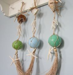 Shell Garland/Starfish & Glass Floats~~~
