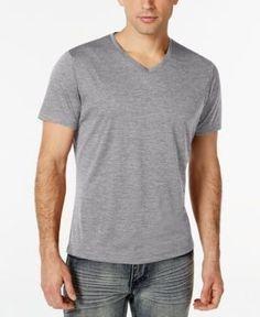 Alfani Black Men's V-Neck T-Shirt, Only at Macy's - Gray 2XLT