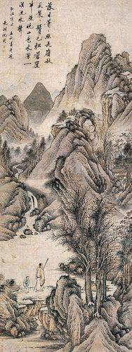明-沈周-秋山策杖图 | by China Online Museum - Chinese Art Galleries