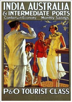Fantastic A4 Glossy Print - 'P&O Tourist Class' - Taken From A Rare Vintage Travel Poster (Vintage Travel / Transport Posters) by Unknown http://www.amazon.co.uk/dp/B005XPQ3VW/ref=cm_sw_r_pi_dp_.qFovb1H44336