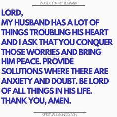 Prayer for my husband is something that we should always be doing as it helps us to see our husband with fresh eyes. Keep your on track and your appreciation for your hubby in check with these prayers. Prayer for family is always a very good thing! Marriage Prayer, Godly Marriage, Happy Marriage, Marriage Advice, Love And Marriage, Godly Relationship, Successful Marriage Quotes, Couples Prayer, Fierce Marriage