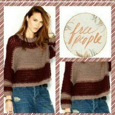 FREE PEOPLE NWT Oversized sweater. Merlot brandy color Free People Sweaters Crew & Scoop Necks