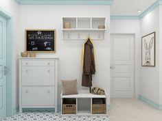 Busca imágenes de Pasillos, vestíbulos y escaleras de estilo escandinavo de Ekaterina Donde Design. Encuentra las mejores fotos para inspirarte y crea tu hogar perfecto.