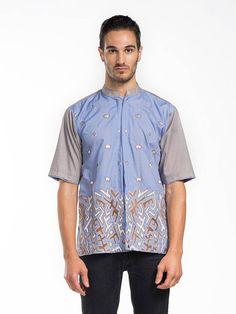 Ethnic shirt custom made, cotton blend.