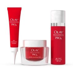 Olay Professional Pro-X Anti-Aging Starter Kit***Product Packaging: Retail.Pro-X Age Repair Lotion with SPF 30 – 1oz,Pro-X Wrinkle Smoothing Cream – 1oz,Pro-X Eye Restoration Complex - .3oz,.