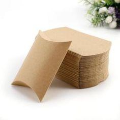 50x Boîte à dragées Boîte de cadeau faveur Kraft 9x7x2,5cm pour mariage baptême Communion, Gift Bags, Goodies, Gift Wrapping, Place Card Holders, Princess, Box, Gifts, Wedding