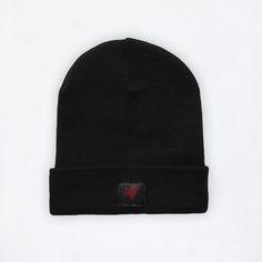 winter beanie hat black cool colors logo