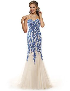 ELLAGOWNS Strapless Tulle Mermaid Lace Dresses Long Prom ... https://www.amazon.com/dp/B01L3D3HQQ/ref=cm_sw_r_pi_dp_x_SMwcybH1984QX