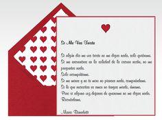Invitaciones, tarjetas de amor, tarjetas amor, San Valentin, corazones, poemas, 14 de febrero, enamorados    Para Más Info Visita: www.LaBelleCarte.com