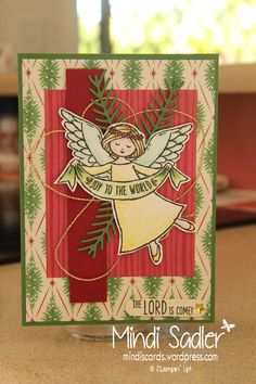 Christmas Cards - Stampin Up! Wonder of Christmas stamp set, Pretty Pines thinlits and This Christmas Specialtiy DSP.
