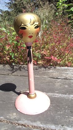 Antique 1930s Hat Stand Flapper Girl Vintage. via Etsy.