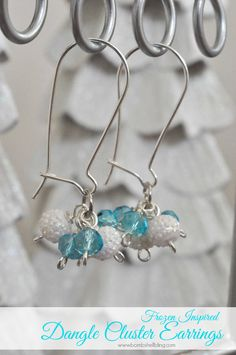 Frozen-inspired for grown-ups? Yes, please! I love this tutorial for these icy dangle cluster earrings! Perfect glam gift idea! #MakeItGiveIt