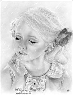 RAIN, Katerina Art ,Fantasy and Portraiture art by Katerina Art,The beautiful pencil art by Katerina Koukiotis