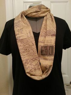 Marauders Map Infinity KNIT scarf  made to by NerdAlertCreations, $40.00