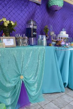 Mermaid 5th birthday party | CatchMyParty.com