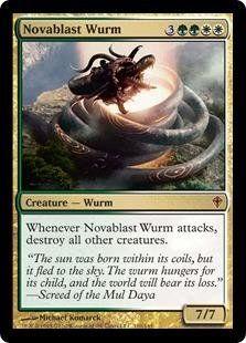 Magic: the Gathering - Novablast Wurm - Worldwake by Wizards of the Coast…