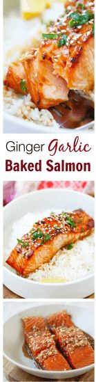 cool Ginger Garlic Baked Salmon