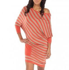 On or Off The Shoulder Stripe Dress...LUV IT!