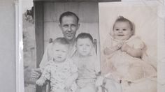 My dad and my brothers taken when we lived in Tennessee in the early 1950's. The baby is me, taken around Christmas of 1955