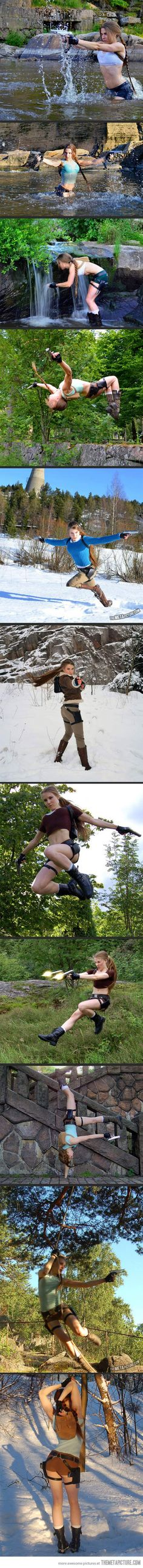 Character: Lara Croft / From: Eidos Interactive & Square Enix's 'Tomb Raider' Video Game Series / Cosplayer: Sari Ruoskanen