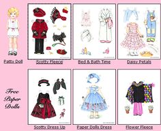 Print FREE paper dolls and clothes from Patty Reed Designs. Several dolls and clothing to choose from. Just click on any doll to see her clothing, then click on the doll to print her or click on th...