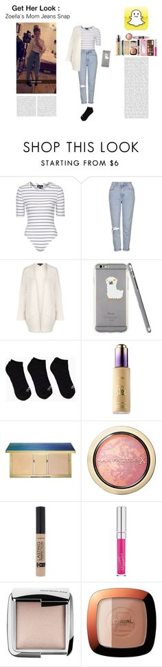 """""""Get the Look: Zoella"""" by silly-stegosaurus ❤ liked on Polyvore featuring Topshop, adidas, Oris, tarte, Max Factor, Hourglass Cosmetics, L'Oréal Paris, Maybelline and Too Faced Cosmetics"""
