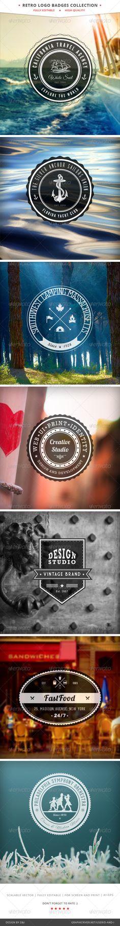 Retro Logo Badges Collection - Vol.1 - GraphicRiver Item for Sale