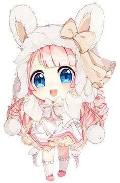 Une jeune fille mangas  qui se déguise  en lapine