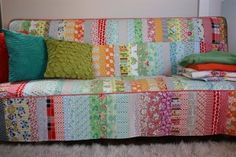 Pretty cool patchwork couch cover