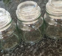 My empty jars after using all my yummy coffee from #bzzagent which #GotItFree...what could I do with them