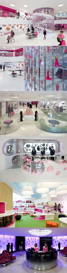 Barbie Flagship Store and Cafe Consept designed by Slade Architecture, Shanghai - China