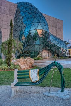 Salvador Dali Museum Bench, St Petersburg, Florida. Would love to take a trip and visit this museum.