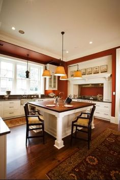 kitchens with islands | RE: Pictures- small kitchen island with seating on end