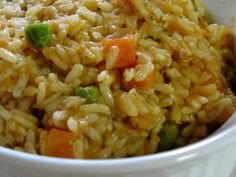 Yellow Rice with Vegetables - Lazy Mama's Mexican Rice   When I make Mexican food: tacos, burritos, enchiladas, etc, I always make yellow rice with vegetables.  It is an easy lazy mama's take on Mexican Rice.