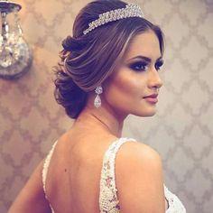 Trendy Ideas For Wedding Hairstyles Princess Updo Brides Hairdo Wedding, Wedding Hair And Makeup, Wedding Beauty, Hair Makeup, Eye Makeup, Bride Hairstyles, Cute Hairstyles, Princess Updo, Beauty Zone
