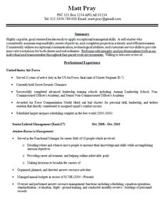 Military To Civilian Resume Examples Beby Diamond Bebydiamond On Pinterest