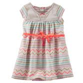 With a lace yoke and bright stripey boho print, this dress makes getting ready a fun adventure!<br>