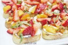 Strawberry Bruschett