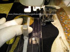 free motion quilting with rulers on a domestic sewing machine