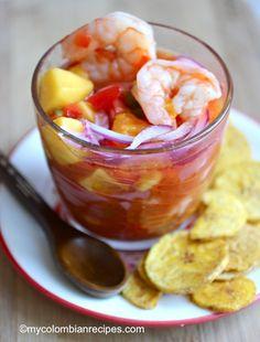 Ceviche de Camarones y Mango (Shrimp and Mango Ceviche)