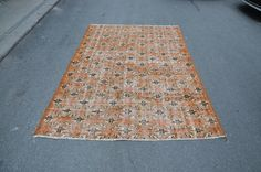 Decorative Vintage Rug, Floral Rug, Traditional Rug, Ethnic Rug, Turkish Rug, Oushak Rug  (240 cm x 160 cm)  7,8 ft x 5,2 ft  model: 1056 by OushakRugs on Etsy