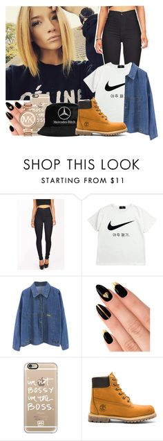 """""""Rock With Me X Trevor Jackson ft. IAMSU!"""" by jo-ellehadi ❤ liked on Polyvore featuring NIKE, House of Holland, Casetify, Timberland, Michael Kors, women's clothing, women, female, woman and misses"""