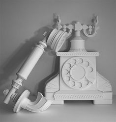 """*Paper Sculpture - """"Telephone"""" by James Vance"""