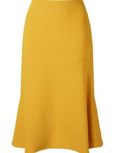 panelled detail midi skirt