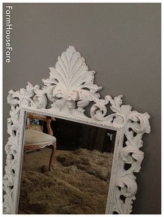 Large Ornate Mirror Wall Baroque By FarmHouseFare