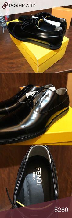 NEW w/ Box!!. Men's FENDI Black Dress Shoes New in box. Black men's FENDI dress shoes. Perfection. Fendi Shoes Oxfords & Derbys