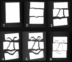 Kunstunterricht in der Grundschule - Grundschulkunst - Spaltschnitt Masken…
