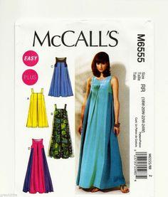 Plus Size 18W - 24W Sewing Pattern McCall's 6555